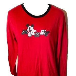 Disney Mickey Mouse Ted Ling Sleeve Tshirt 1X